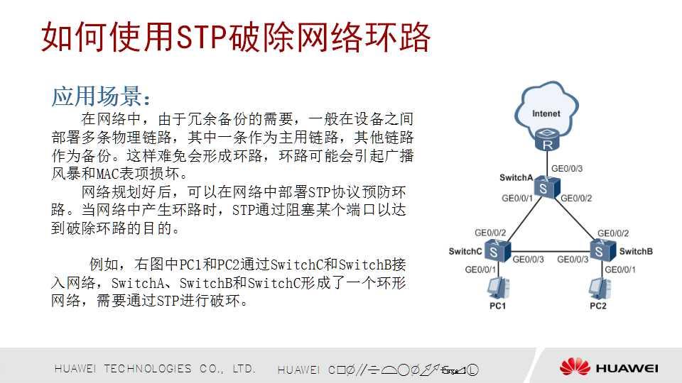 如何使用STP破除网络环路